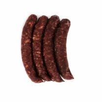 geräucherte und luftgetrocknete Rohwurst aus Reh, Rind und Schweinefleisch