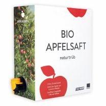 naturtrüber Saft aus biologischen Südtiroler Äpfeln | mit praktischem Zapfhahn