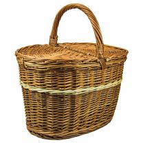 handgeflochtener Picknickkorb