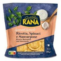 """Köstlich! Mit feinem Ricotta Käse und zartem Blattspinat gefüllte """"Girasoli"""" Teigtaschen."""