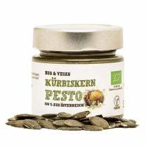 Das Kürbiskern Pesto besteht zu 100% aus österreichischen Rohstoffen und ist dazu auch noch vegan.