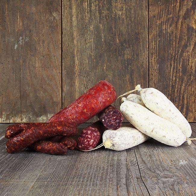 Südtiroler Salami & Kaminwurzn